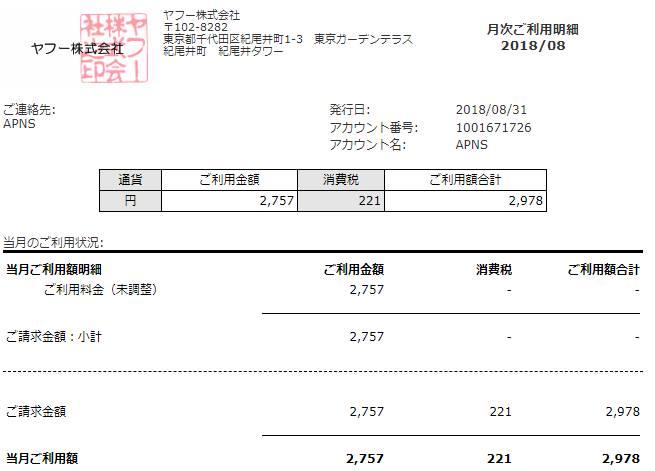 やってみた評価体験YDN支出の領収書