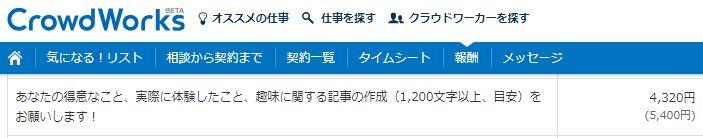 クラウドワークス月10万円継続依頼例